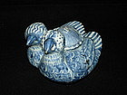Good early Ming blue and white mandarin duck ewer