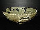 Sample of Yuan longquan celadon huge bowl 33 cm