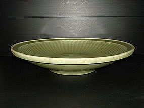 Yuan dynasty longquan celadon very large dish 41cm