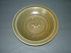 Song - Yuan longquan celadon single fish large dish