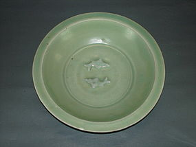 Song Yuan longquan celadon double fish large dish