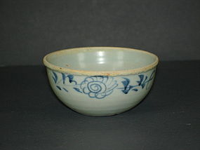 Rare shape of Yuan blue and white small bowl