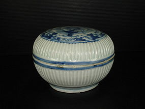 Rare Ming Wanli blue base very large cover box