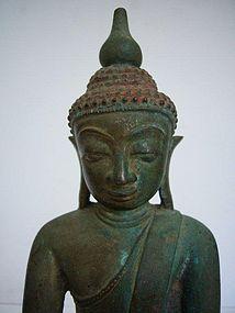 Burmese Bronze Shan Buddha