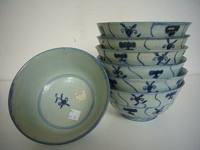 Seven Chinese Bowls from the Diana Cargo