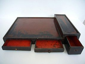 Lacquered Wood Opium Tray