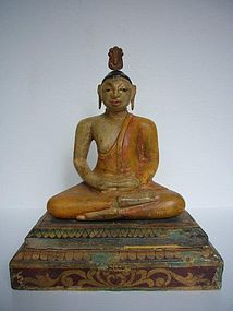 Antique Teakwood Buddha from Sri Lanka