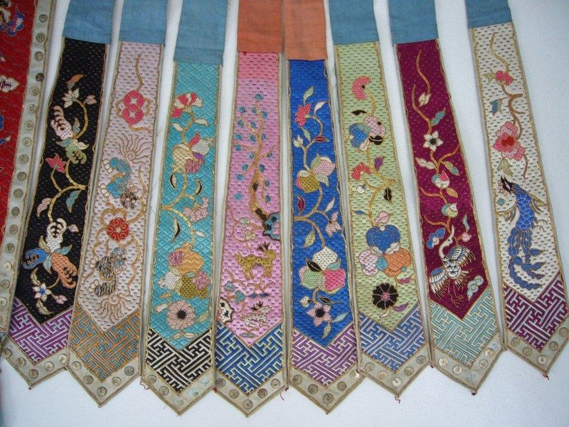 Chinese Embroidered Apron Late Qing