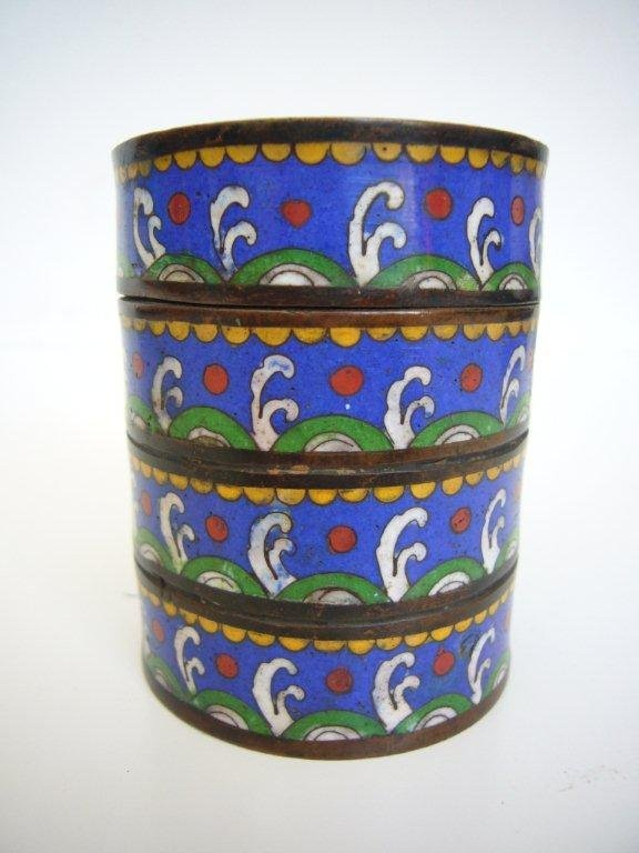 Email Cloisonné Opium Box