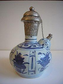 Wanli B/W Porcelain Kendi