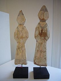 Extremely Rare Han Dynasty Wooden Figures