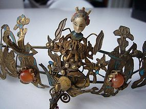 Qing Dynasty Kingfisher Tiara