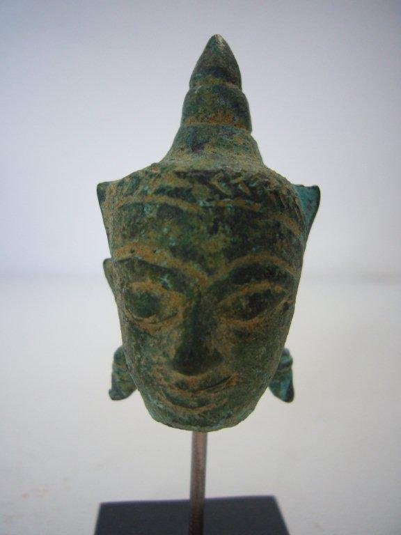 Thai Ayutthaya Bronze Buddha Head