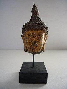 Thai Ayutthaya Bronze Buddha Head
