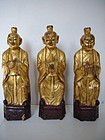 Qing Dynasty Gilt Wooden Monks