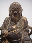 Qing Dynasty Wooden Deity