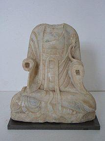 Tang Dynasty Marble Buddha Torso