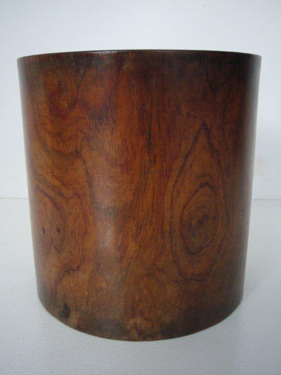 Qing Dynasty Huanghuali Brushpot (Bitong)