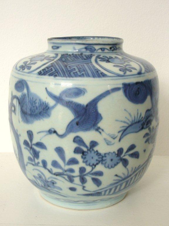Large Wanli B&W Porcelain Jar
