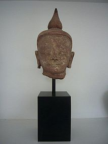 Burmese 17th/18th Century Sandstone Buddha Head