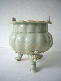 Extremely Rare and Large Qingbai Censer