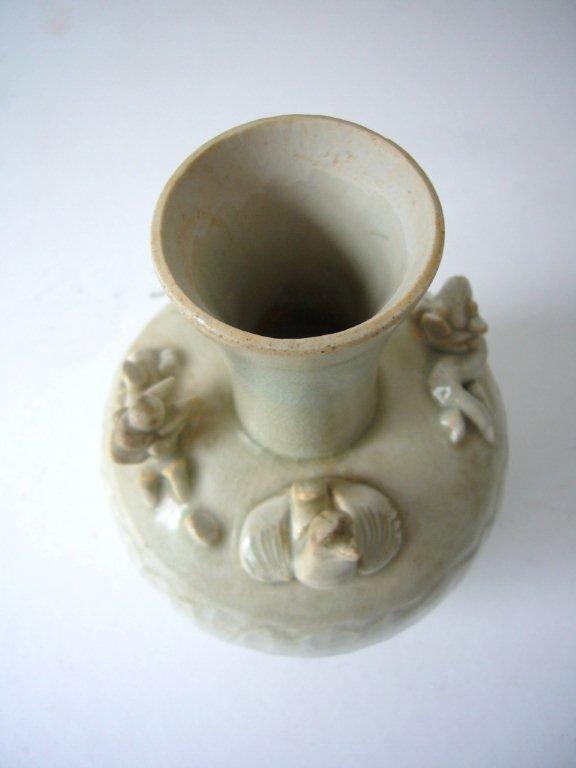 Rare Qingbai Vase with Animals