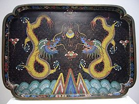 Extremely Rare Email Cloisonné Opium Tray