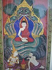 Set of Four 19th Century Thai Gouache Paintings