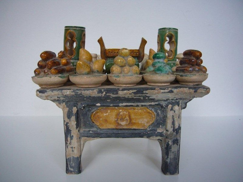Ming Dynasty Pottery Offering Table with TL test