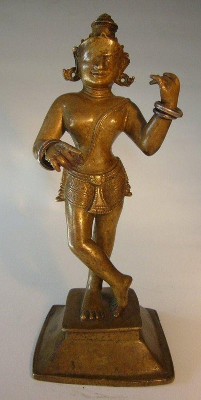 Indian Orissa Bronze Krishna 17th Century