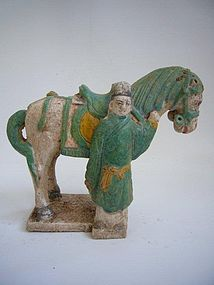 Ming Dynasty Pottery Horse and Groom