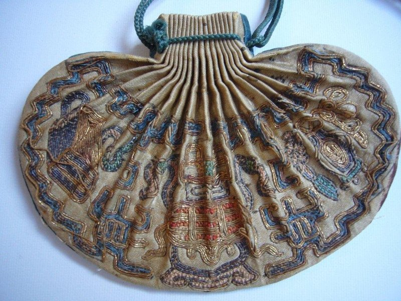 Rare Chinese 19th Century Snuff Bottle Pouch