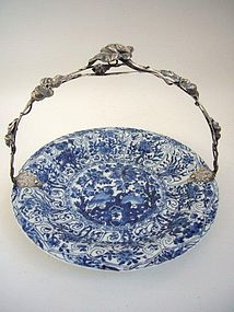 Kangxi Dish with Dutch Silver Mounts