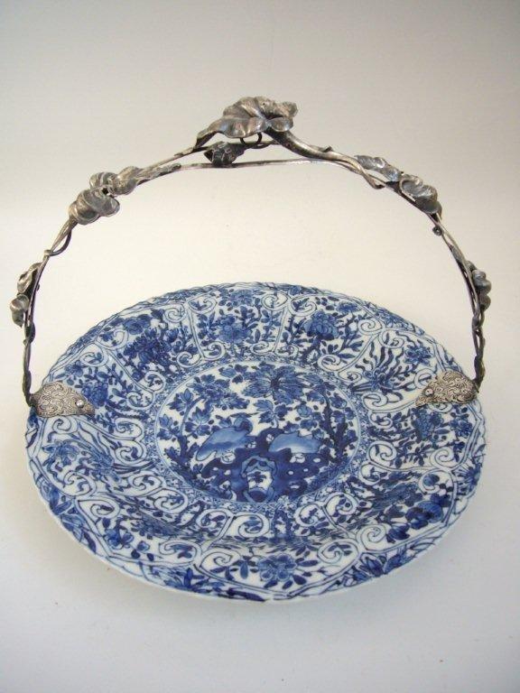 Kangxi Dish with Dutch Silver Mounts