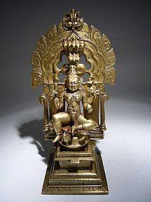 Indian Bronze Padmavati 18th Century