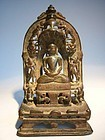 Indian Bronze Jain Shrine 15th/16th Century