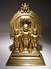 Rare Indian Jain Bronze Group