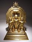 Rare Indian Jain Bronze Group