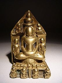 Rare Indian Small Jain Shrine 17th/18th Century