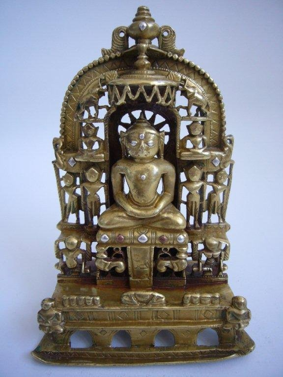 Indian Bronze Jain Shrine Dated1453