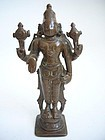 South Indian Bronze Vishnu 16th Century