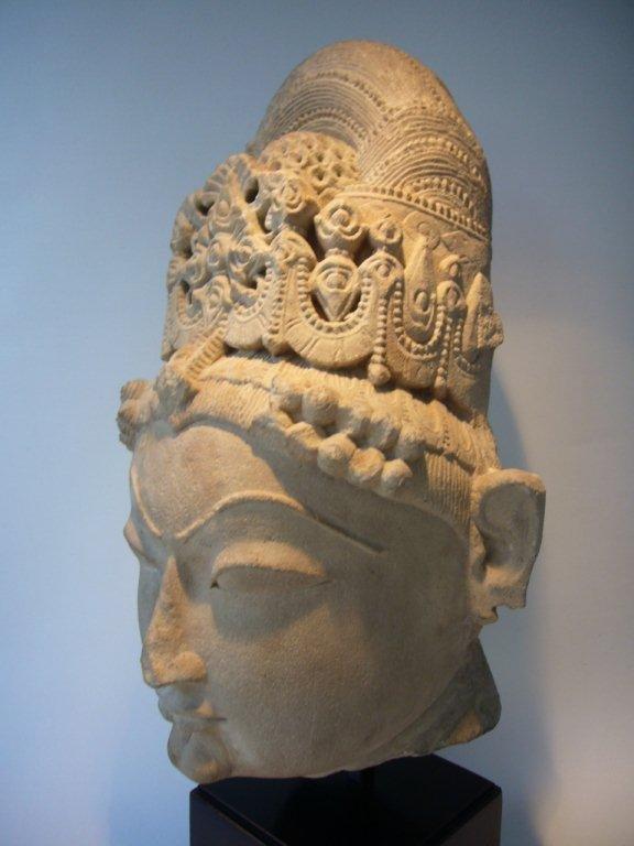 Extremely Rare Indian Khajuraho Sandstone Head