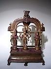 Indian Bronze Vishnu with Consorts