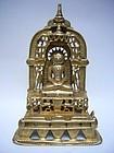 Indian Bronze Jain Shrine Dated 1394
