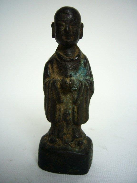 Chinese Ming Dynasty Bronze Monk