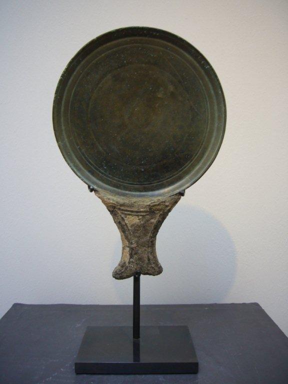 Khmer Bronze Mirror 12th/13th Century
