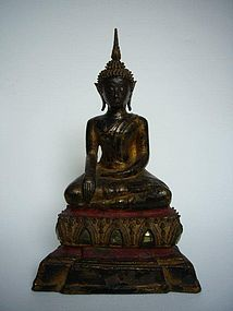 Thai Bronze Ayutthaya Buddha 18th century