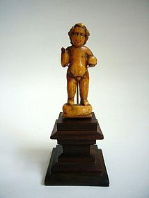 Goanese Ivory Baby Jesus 17th/18th Century