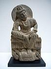 Gandhara Grey Schist Sculpture of Prince Siddharta