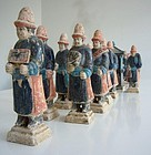 Rare and Large Group of Ming Pottery Tomb Figures